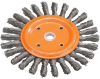 Bench Wheel Brush with Knot-twisted Wires for Bench and Pedestal Grinders