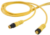 Single Key (M12) Micro-Link Cable Assembly, PVC Braided, Male/Female, 3 pole, 6.6', 22 AWG -- 303K0066H -- View Larger Image