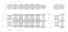 Standard Roller Chains -- RC35-2 -- View Larger Image