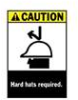 Brady Caution Hard Hats Required Signs -- sf-19-038-050