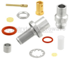 SMA Female Bulkhead Connector Clamp/Solder Attachment For LL160 Cable -- FMCN1466 -Image