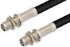 SMA Female Bulkhead to SMA Female Bulkhead Cable 24 Inch Length Using RG58 Coax -- PE35404-24