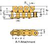 LAMBDA® Series Single Pitch Conveyor Attachment Chains
