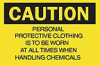 "Brady ""Caution: Personal Protective Equipment Required..."" Signs -- sf-19-016-696"