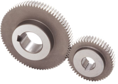 Ground spur gears with keyways