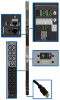 10kW 3-Phase Monitored PDU, 200/208/240V Outlets (42 C13 & 6 C19), NEMA L15-30P, 3 ft. Cord, 0U Vertical, TAA -- PDU3VN3L1530