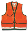 Field Vest,2XL,Orange,Zipper -- 9LAV0