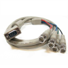 6ft HD15 VGA Male to 4 BNC Male Cable -- RB12-06