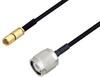 SSMC Plug to TNC Male Cable 36 Inch Length Using PE-SR405FLJ Coax -- PE3C4453-36 -Image