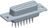 Input-Output Connectors, D-Subminiature, D-Sub High Performance, Durability (Mating cycles)=High Perf (//500 Mating Cycles) -- DAP15S365TLF - Image