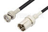 GR874 Sexless to BNC Male Cable 72 Inch Length Using RG223 Coax, RoHS -- PE3182LF-72 -Image