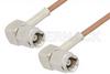 SMC Plug Right Angle to SMC Plug Right Angle Cable 60 Inch Length Using RG178 Coax -- PE3765-60 -Image