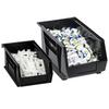"""14 3/4"""" x 5 1/2"""" x 5"""" Black - Plastic Stack & Hang Bin Boxes -- BINP1555K -- View Larger Image"""