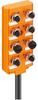 M12 8 port plastic passive distribution box with LED -- 910-10M -Image