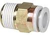 Fitting; 6 mm; 10 mm; M5; 17.8 mm; 1.0 MPa (Max.); PBT, PP; brass -- 70070833