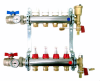 Pre-Assembled Manifold with Thermostatic Screw, Flow Meters, Valves with Thermometer and Terminal Parts Included -- A342A