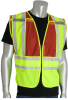 PIP 302-PSV Yellow/Red M/XL Mesh/Solid High-Visibility Vest - 2 Pockets - 616314-07905 -- 616314-07905
