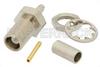 MCX Jack Bulkhead Mount Connector Crimp/Solder Attachment for RG178, RG196, .177 inch D Hole -- PE4886 -Image