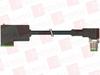 MURR ELEKTRONIK 7000-41101-6560200 ( M12 MALE 90° / MSUD VALVE PLUG FORM C 8 MM, PUR 3X0.75 BLACK ROBOT, DRAG CH 2M ) -Image
