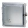 Enclosure, Hinged, Transparent Screw Cover With SS Lockable Latch -- ARCA-JIC AR10106CHSSLT -Image
