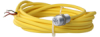 103SR Series Unipolar Hall-Effect Digital Position Sensor with 15/32-32 UNS-2A cylindrical aluminum threaded housing; two hex nuts; 2997 mm [118.0 in] 22-gauge insulated conductor cables with yellow t -- 103SR13A-9