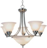 CHANDELIER 7 LIGHT 28 IN BRUSHED NICKEL -- 617045