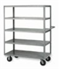 Mobile Cart, 4 Flush Shelves, 30x60x63