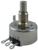 HRS100 Series Hall-effect rotary position sensor, slotted shaft, straight solder lug, 90° electrical angle -- HRS100SSAB090