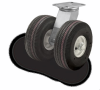 Pneumatic Cantilever-Style Dual Wheel Casters -- 290 Series -- View Larger Image
