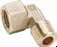 Brass Metric Adapters -- CD43 90° Elbow Male-Female BSPT-BSPP - Image