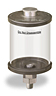 """Clear View Oil Reservoir, 1 pt Acrylic, 1/4"""" Male NPT, Pipe Mount -- B4466-016AB2W -Image"""
