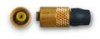 3-56 coaxial plug, strain relief boot, mates to common PCB coaxial cable types.**Requires special tooling for assembly – No sales except PCB locations that have the tooling and procedures.** -- EK -- View Larger Image