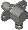 Honeywell Harsh Application Aerospace Proximity Sensor, HAPS Series, Right angle cylindrical flanged form factor, 2,50 mm/3,50 range, 3-wire open collector output normally closed, EN2997Y10803MN termi -- 1PRFD3BCNN-000 -- View Larger Image