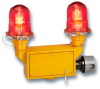 Red Aviation Obstruction Light -- Model 810DE-120R