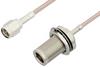 SMA Male to N Female Bulkhead Cable 6 Inch Length Using RG316 Coax -- PE33555-6 -Image