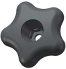 Snap Lock Star Knob,2 1/4 In,Thru,M6 -- 3GEV1