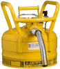 Justrite Accuflow Yellow 2 1/2 gal Safety Can - 12 in Height - 11 3/4 in Overall Diameter - 697841-14083 -- 697841-14083