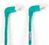 15FT Green CAT6 250MHz Angle Patch Cable S/FTP CM Down-Down -- EVNSL212S-0015-90DD - Image