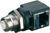 M12-RJ45-Ethernet-Adaptor M12-female d-cod.4p. to RJ45-female, 90° -- 7000-99052-0000000 - Image