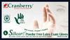 Cranberry Silkcare Powder-Free Latex Exam Gloves