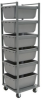 Akro-Mils 6 600 lb Gray Industrial Grade Polymer Tub Rack - 24 in Overall Length - 24 in Width - 73 in Height - RA6TR4MR -- RA6TR4MR