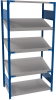Open shelving with 3 sloped shelves (FIFO) (Standalone unit) -- SRK1F-EE750502 - Image