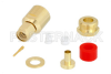 SMA Male Connector Clamp/Solder Attachment for RG58, RG303, LMR-195, PE-P195 -- PE45140 -Image