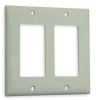 Wall Plate,2Gang,Office White -- 1LXU7