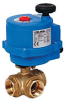 Electric Actuated Ball Valve -- 8E065/8E066 3-Way Brass