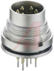 connector,circular din,male receptacle,rear mount,shielding,pcb pins,8 contact -- 70151298