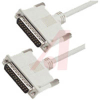 Cable;Premium Molded;Straight;DB25 Male/Male;10 Ft;25 Cond;Light Gray;Stranded -- 70126158 - Image