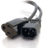 3ft 18 AWG Monitor Power Adapter Cord (IEC320C14 to NEMA 5-15R) -- 2306-03132-003