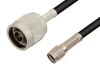 Reverse Polarity SMA Male to N Male Cable 24 Inch Length Using RG58 Coax, RoHS -- PE34727LF-24 -Image