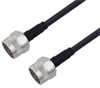 Low Loss N Male to N Male Cable Assembly using LMR-240-DB Coax, 4 FT with Times Microwave Components -- LCCA30181-FT4 -Image